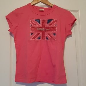 3/$20Woman top tee pink short sleeve 100% cotton